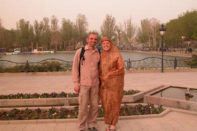 Девушка, которая нас фотографировала просила изобразить more love. Сложно это, когда начитаешься всяких ужасов об иранской полиции нравов...